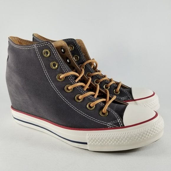 aa0dad6e708b53 Converse CTAS Lux Mid Hidden Wedge Sneakers W 6.5
